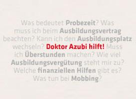 Verschiedenen Fragen die an Dr. Azubi gestellt wurden - Doktor Azubi hilft!