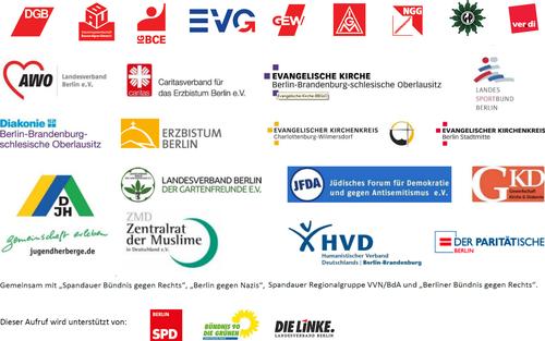 Mitgliedsorganisationen Bündnis für ein weltoffenes und tolerantes Berlin