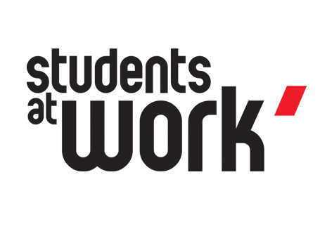 Logo: students at work