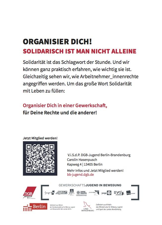 1.Mai 2020 Organisier dich!