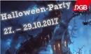 Halloween-Party 27.-29.10.2017 [DGB-Jugend-Logo mit kleiner Spinne]