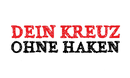 """Banner der Kampagne """"Dein Kreuz ohne Haken"""""""