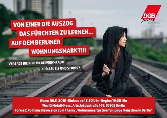 Bild Podiumsdiskussion zur Wohnraumsituation für junge Menschen in Berlin