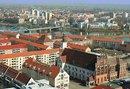 Blick über Frankfurt/Oder, u.a. mit Rathaus und Oder