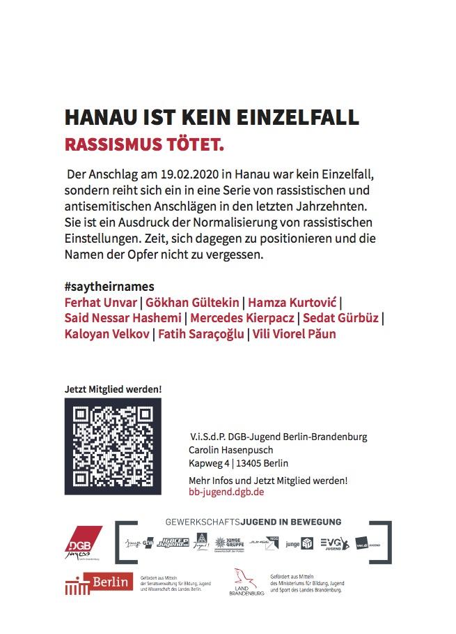 1.Mai 2020 Hanau