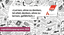 Cover des Flyers des Jugendbildungsprogramms 2016