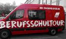 Der neuer Berufsschultourbus der DGB-Jugend Berlin-Brandenburg