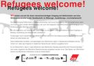 """Rückseite der Postkarte """"Refugees Welcome!"""""""